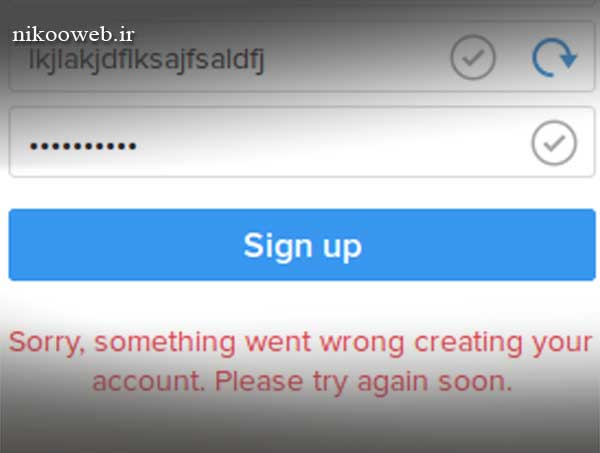 خطای Sorry, something went wrong creating your account. Please try again soon. در اینستاگرام